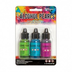(TANK65524)Ranger • Tim Holtz alcohol pearls kit 2 Sublime, Tranquil, Intrigue