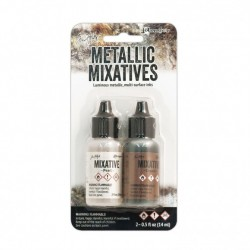 (TIM21254)Ranger • Tim Holtz alcohol ink metallic pearl & copper 2 x14ml