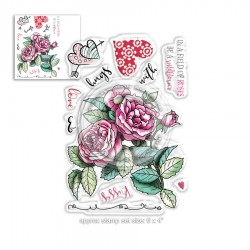 (PD8021)Polkadoodles Love & Kisses Clear Stamps