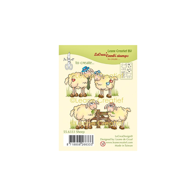 (55.6333)Clear Stamp Sheep