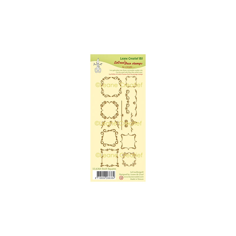 (55.6364)Clear Stamp Swirl Squares