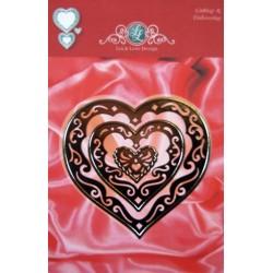 (1201/0052)Lin & Lene stencil set 3 pieces heart