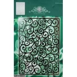 (1201/0051)Lin & Lene stencil background fantasy