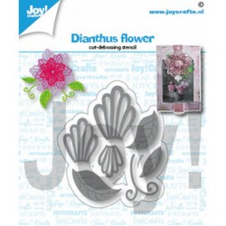 (6002/1430)Cutting debossing dies Dianthus flower