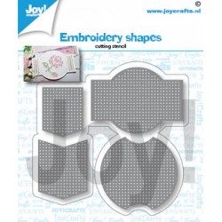 (6002/1432)Cutting dies Embroidery shapes