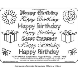 EMBOSSING EasyEmboss 'Happy Birthday' Outlines - FINE