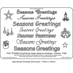 EMBOSSING EasyEmboss 'Seasons Greetings' Outlines - FINE