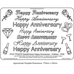 EMBOSSING EasyEmboss 'Happy Anniversary' Outlines - FINE