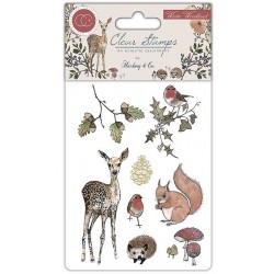 (CCSTMP003)Craft Consortium Winter Woodland Clear Stamps