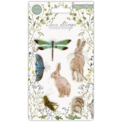 (CCSTMP004)Craft Consortium Wildflower Meadow Clear Stamps
