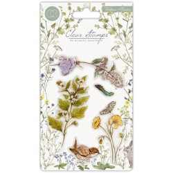 (CCSTMP005)Craft Consortium Wildflower Meadow Clear Stamps
