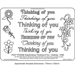 EMBOSSING EasyEmboss 'Thinking of You' Outlines - FINE
