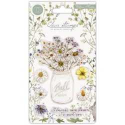 (CCSTMP006)Craft Consortium Wildflower Meadow Clear Stamps Fresh Cut