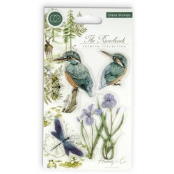 (CCSTMP010)Craft Consortium The Riverbank Clear Stamps Kingfisher