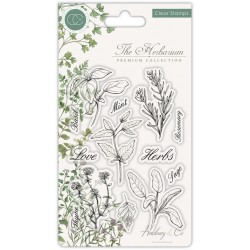 (CCSTMP011)Craft Consortium The Herbarium Clear Stamps Herbs