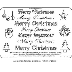 EMBOSSING EasyEmboss 'Merry Christmas' Outlines - FINE