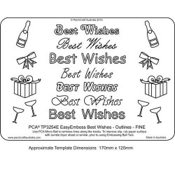 (TP3254E)EMBOSSING EasyEmboss 'Best Wishes' Outlines - FINE
