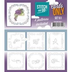 (COSTDO10061)Stitch & Do - Cards only - Set 61