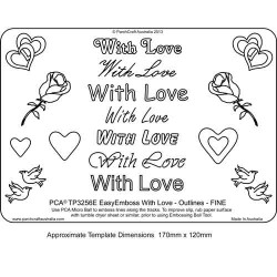 EMBOSSING EasyEmboss 'With Love' Outlines - FINE
