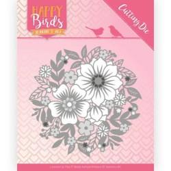 (JAD10084)Dies - Jeanine's Art - Happy Birds - The Circle of Flowers
