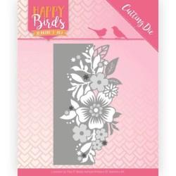 (JAD10085)Dies - Jeanine's Art - Happy Birds - Flower Edge