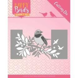 (JAD10087)Dies - Jeanine's Art - Happy Birds - Bird Sleeve