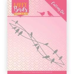 (JAD10088)Dies - Jeanine's Art - Happy Birds - Bird Friends