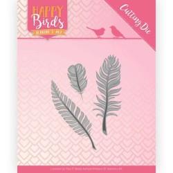 (JAD10089)Dies - Jeanine's Art - Happy Birds - Trio of Feathers