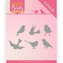 (JAD10090)Dies - Jeanine's Art - Happy Birds - Happy Birds