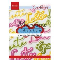 (LR0646)Creatables Groetjes
