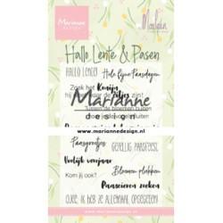 (CS1043)Clear stamp Marleen's Hallo Lente & Pasen