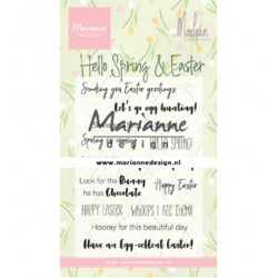 (CS1044)Clear stamp Marleen's Hello Spring & Easter