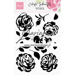 (CS1046)Clear stamp Colorful Silhouette - Roses