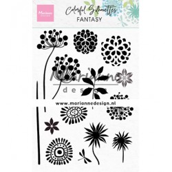 (CS1047)Clear stamp Colorful Silhouette - Fantasy
