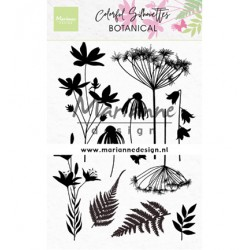 (CS1048)Clear stamp Colorful Silhouette - Botanical