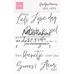 (CS1050)Clear stamp Handgeschreven - Veel liefs