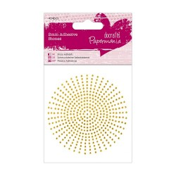 (PMA-351624)2mm Adhesive Stones (424pcs) - Gold
