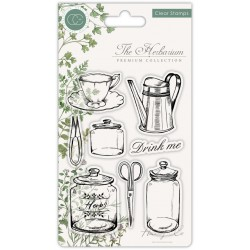 (CCSTMP012)Craft Consortium The Herbarium Clear Stamps Utensils