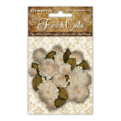 (SF145)Stamperia Ivory Paper Flowers