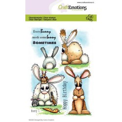 (1664)CraftEmotions clearstamps A6 - Bunny 1 Carla Creaties