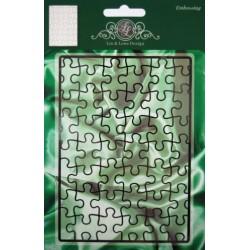 (1201/0043)Lin & Lene stencil background puzzle pieces