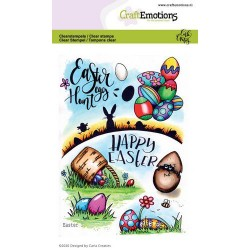 (1668)CraftEmotions clearstamps A6 - Easter 1 Carla Creaties