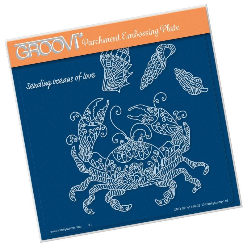 (GRO-SE-41440-03)Groovi Plate A5 CHERRY'S UNDER THE SEA - CRAB