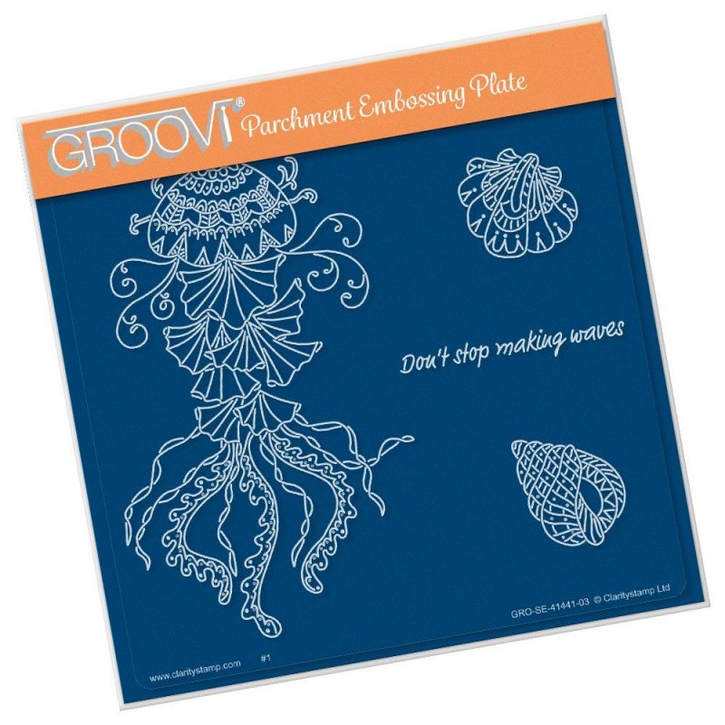 (GRO-SE-41441-03)Groovi Plate A5 CHERRY'S UNDER THE SEA - JELLYFISH