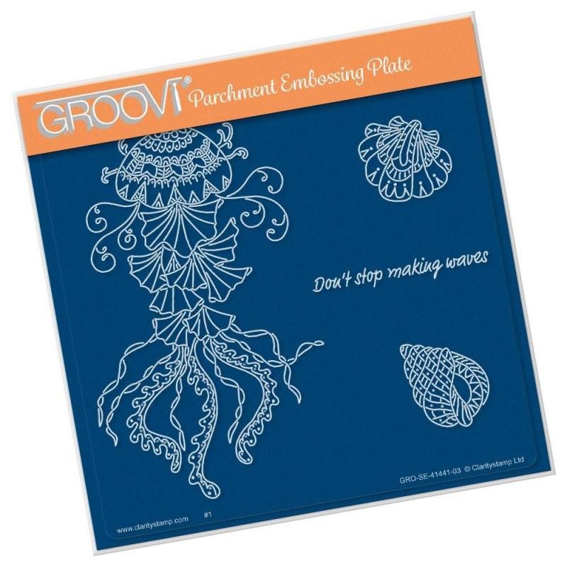 (GRO-SE-41441-03)Groovi Plate A5 CHERRY'S UNDER THE SEA - JELLYFISH