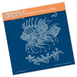 (GRO-SE-41439-03)Groovi Plate A5 CHERRY'S UNDER THE SEA - LION FISH