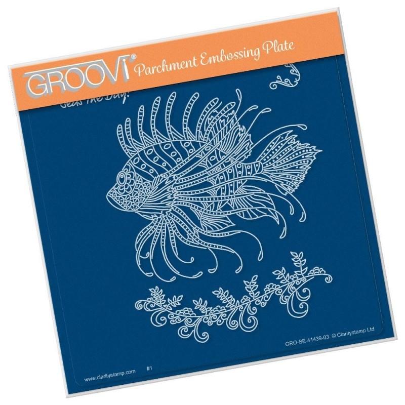 (GRO-SE-41439-03)Groovi Plate A5 CHERRY'S UNDER THE SEA - LION FISH