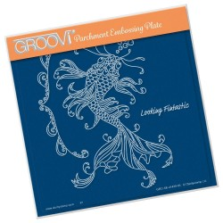 (GRO-SE-41438-03)Groovi Plate A5 CHERRY'S UNDER THE SEA - KOI