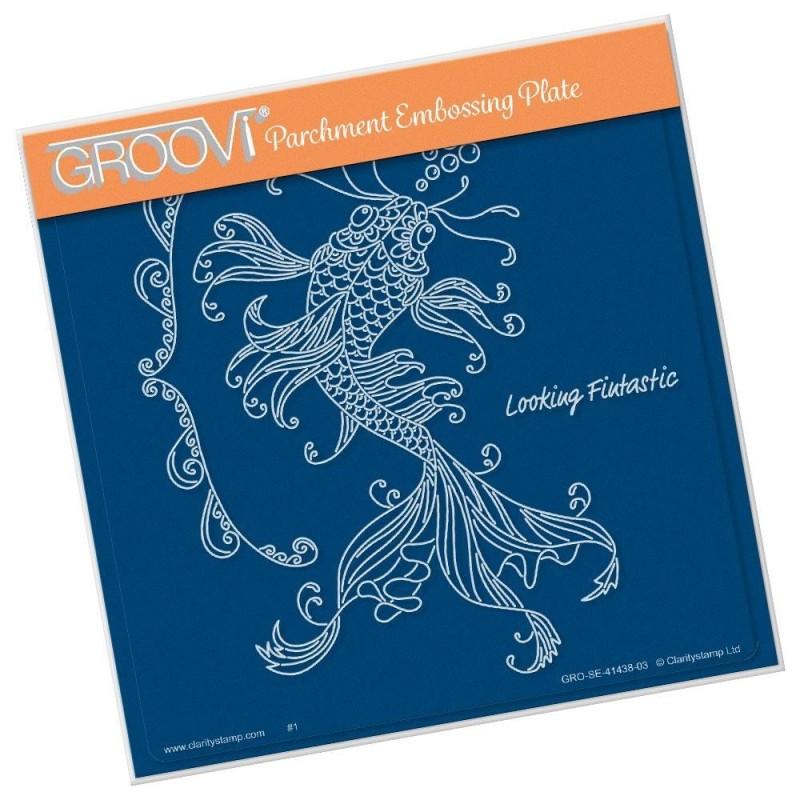 (GRO-SE-41438-03)Groovi Plate A5 CHERRY'S UNDER THE SEA - KOI
