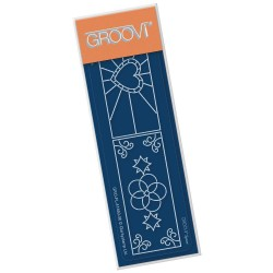 (GRO-FL-41460-06)Groovi® SPACER STAINED GLASS WINDOW